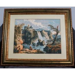 Вышитая картина Тивольский водопад