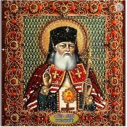 Святитель Лука Крымский - Образа в каменьях - вышивка бисером икон