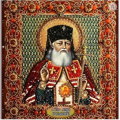 Вышивка бисером икон - Образа в каменьях - Святитель Лука Крымский