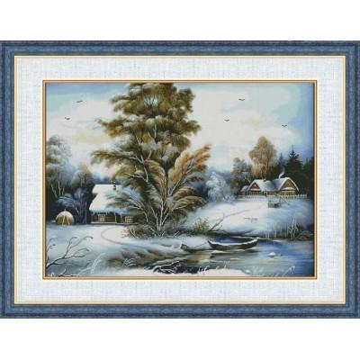Набор для вышивки крестом - Фантазия ТМ - Зима в селе