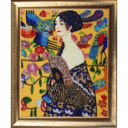 Дама с веером (по мотивам Г. Климта) - Butterfly - набор вышивки бисером