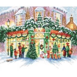 Christmas Shop / Рождественский магазин - LETISTITCH - набор для вышивки крестом