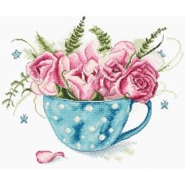 Чашка роз - LETISTITCH - набор вышивки крестом
