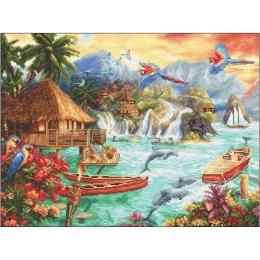 Island Life - LETISTITCH - набор для вышивки крестом