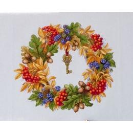 Набор для вышивки крестом - ТМ Мережка - К-99 Осенний венок