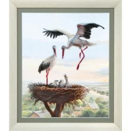 Аисты в гнезде - Crystal Art - набор вышивки крестом