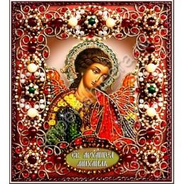Вышивка бисером икон - Образа в каменьях - Святой Архангел Михаил 77-и-30