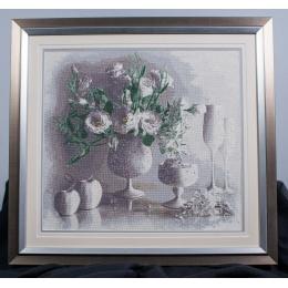 Вышитая картина Белый натюрморт
