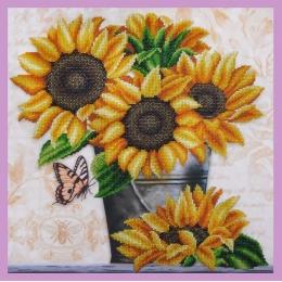Набор для вышивки бисером - Картины бисером - Р-315 Дачные подсолнухи