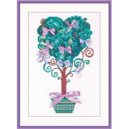 Набор для вышивки крестом - РИОЛИС - 1462 Дерево желаний