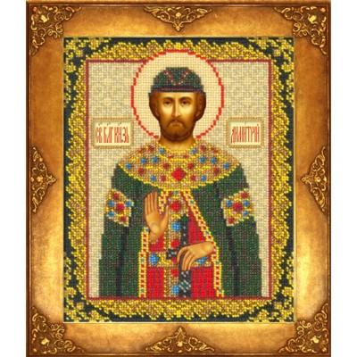 Икона Св. Дмитрий Донской - Русская искусница - вышивка бисером икон