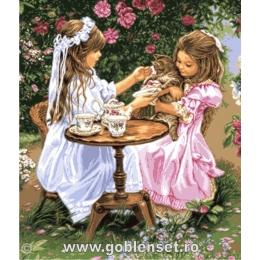 Время пить чай - Goblen Set - вышивка гобеленовым швом