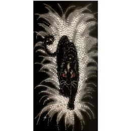 Набор для вышивки бисером - Образа в каменьях - 5523 Черная пантера
