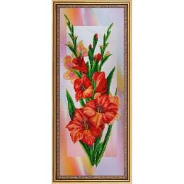 Гладиолусы - Картины бисером - набор вышивки бисером