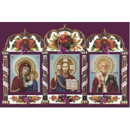 Икона ДЕИСУС - Изящное рукоделие - вышивка бисером икон