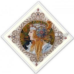 Альфонс Муха. Блондинка - ТМ Мережка - набор вышивки крестом