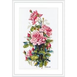 Розовые розы - ТМ Мережка - набор для вышивки крестом