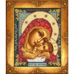 Икона Богородица Корсунская - Русская искусница - вышивка бисером икон