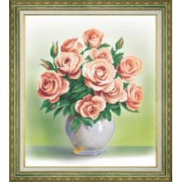 Кремовые розы - Чарівна Мить - набор вышивки бисером