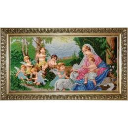 Мадонна и ангелы - БС Солес - вышивка бисером икон