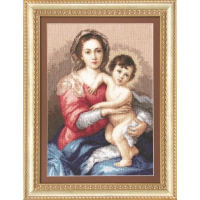 Набор вышивки крестом - Чарівна мить - Мадонна с младенцем