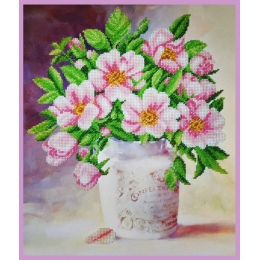 Майская роза - Картины бисером - набор для вышивки бисером