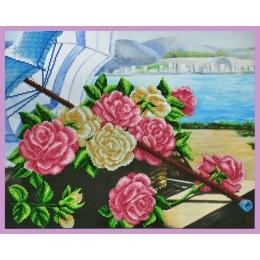 Розы на берегу - Картины бисером - набор для вышивки бисером