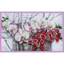 Набор для вышивки бисером - Картины бисером - Р-263 Симфония орхидей