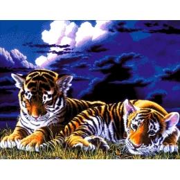 Авторский набор для вышивки бисером - Токарева А. - 44-3200-НТ Тигрята