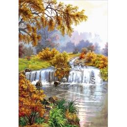 Авторский набор для вышивки бисером - Токарева А. - Пейзаж у водопада 46-7560-НП