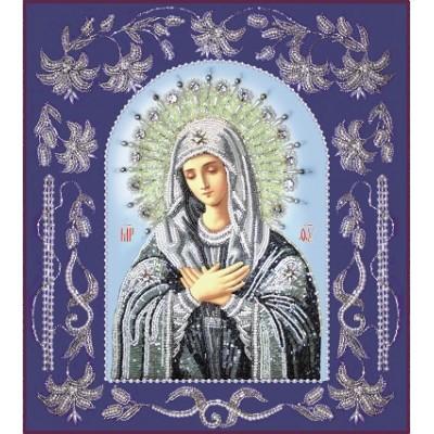 Вышивка бисером икон - Изящное рукоделие - Икона Богородица Умиление (в рамке)