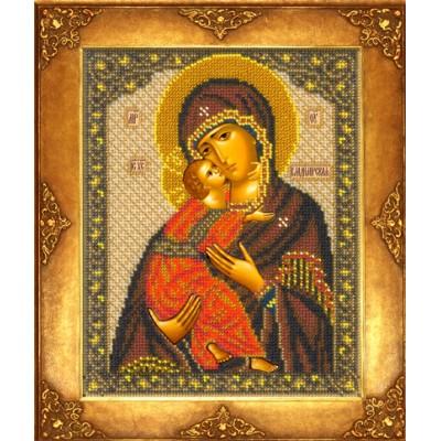 Икона Богородица Владимирская - Русская искусница - вышивка бисером икон