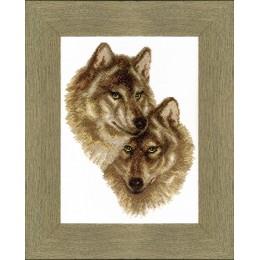 Волк и волчица - Crystal Art - набор вышивки крестом