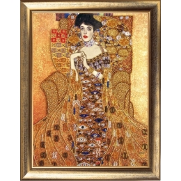 Набор для вышивки бисером - Butterfly - Золотая Адель (по мотивам Г. Климта) №489