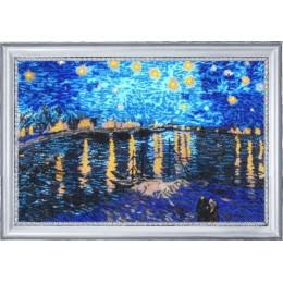Набор для вышивки бисером - Butterfly - №365 Звездная ночь над Роной (по мотивам В. Ван Гога)