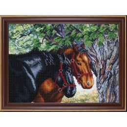 Пара лошадей - Магия канвы - набор для вышивки бисером