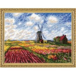 """""""Поле с тюльпанами"""" по мотивам картины К. Моне - РИОЛИС - набор для вышивки крестом"""