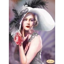Истинная леди - Тэла Артис - схема вышивки бисером