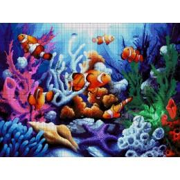 Авторский набор для вышивки бисером - Токарева А. - Океанариум 49-3072-НО