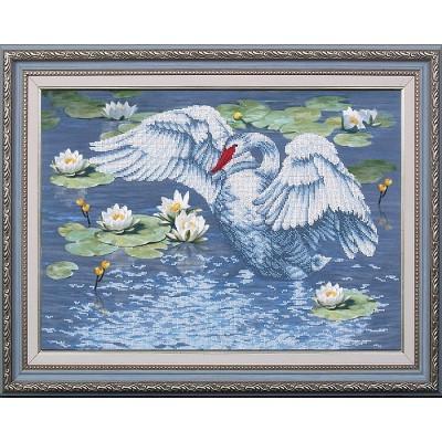 Набор для вышивки бисером - Магия канвы - Райское озеро