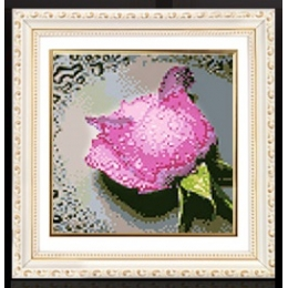 Набор для рисования камнями 7242 Розовая роза