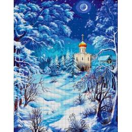 Авторский набор для вышивки бисером - Токарева А. - Рождественская ночь 48-3315-НР