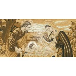 Святая Семья (сепия) - БС Солес - вышивка бисером икон