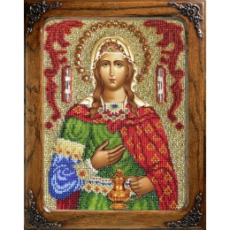 Вышивка бисером икон - ТМ Вышиваем бисером - Икона Св. Светлана (Фотиния) L-24