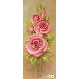 Розовые лепестки - Тэла Артис - схема вышивки бисером