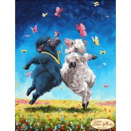 Танцы на лугу - Тэла Артис - схема вышивки бисером