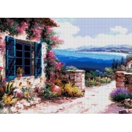 Авторский набор для вышивки бисером - Токарева А. - Морской пейзаж 49-3646-НМ