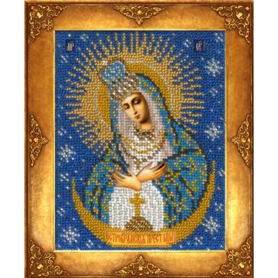 Икона Богородица Остробрамская - Русская искусница - вышивка бисером икон