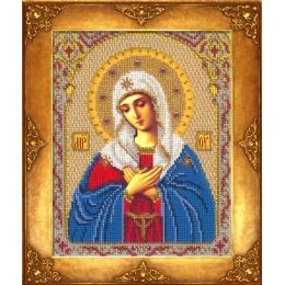 Икона Богородица Умиление - Русская искусница - вышивка бисером икон