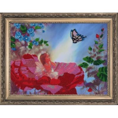 Маленькая фея - Butterfly - набор вышивки бисером